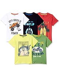 Max Boy's Regular fit T-Shirt (Pack of 5)