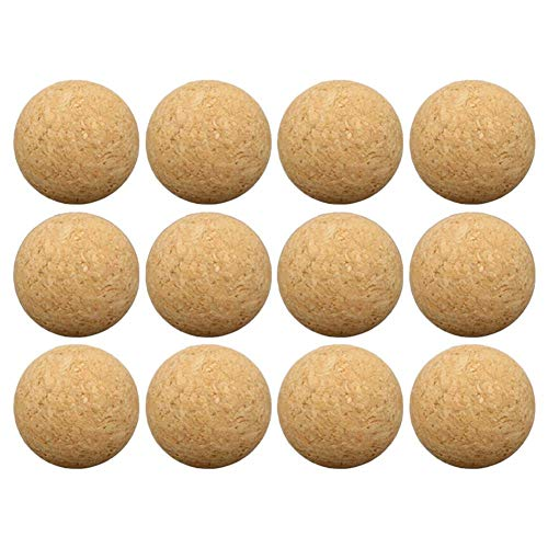 sball Tischfußball Ersatzbälle, 12 Packs Kork Tisch Spiele Bälle, 36MM Holz Tischfußball ()