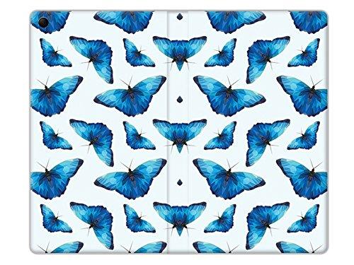 etuo Lenovo Tab 3 7.0 (A7-30) - Hülle Flex Book Fantastic - Blaue Schmetterlinge - Tablethülle Schutzhülle Etui Case Cover Tasche für Tablet