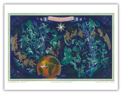 air-france-world-route-map-astrological-constellations-signs-of-the-zodiac-greek-mythogical-figures-