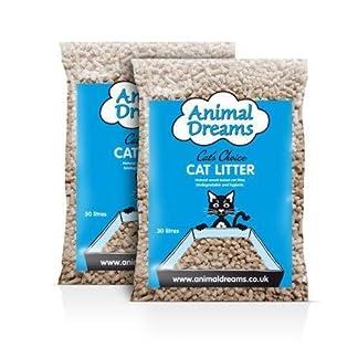 Animal Dreams Wood Based Cat Litter 2 x 30Litre Bags Animal Dreams Wood Based Cat Litter 2 x 30Litre Bags 51Id4cRnkqL