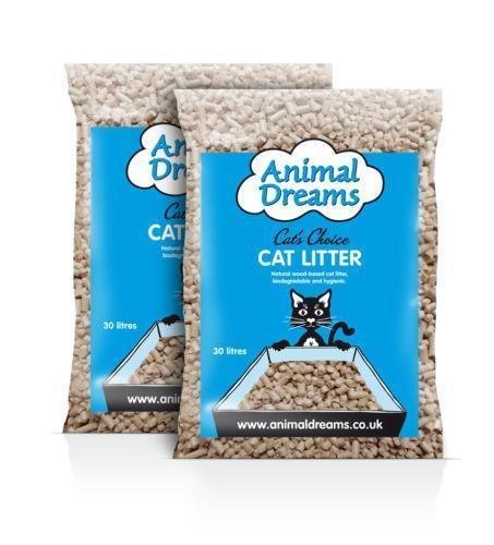 Animal Dreams-Lettiera per gatto a base di legno 30Litre Bags 2 x