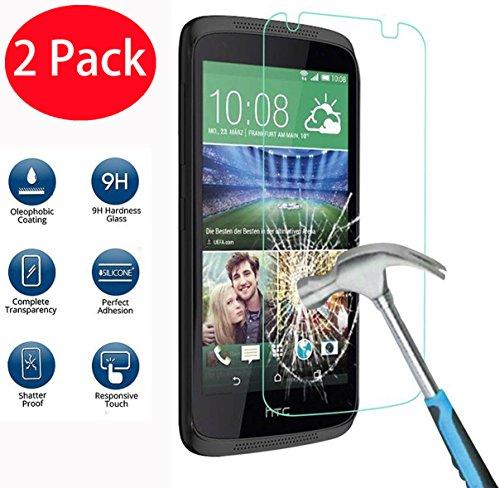 2 Pack - HTC Desire 526 526G Panzerglas, FoneExpert® Gehärtetem Schutzfolie Glasfolie Hartglas Panzerfolie Displayschutzfolie für HTC Desire 526 526G