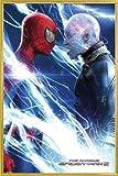 1art1 Spider-Man Poster et Cadre (Plastique) - 2, Spiderman and Electro (91 x 61cm)