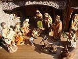 PREMIUM XXL Krippenfiguren 14 - 15 cm 15KFX-MDS mit Deko, 21-teilig, große hochwertige Ausführung und feine Mimik, Komplettset mit Schäfer, Hirte mit Schaf / Schafe und Ziegen, Ochs und Esel, NEU - handbemalt - für große Holz Weihnachtskrippe + Zubehör, Design XXL Maria Josef Jesus Weihnachtsgeschichte aus Echtholz - Imitat in 5 cm 6 cm 7 cm 8 cm 9 cm 10 cm 11 cm 12 cm 13 cm 14 cm 15 cm 16 cm 17 cm 18 cm 19 cm 20 cm 30 cm 40 cm