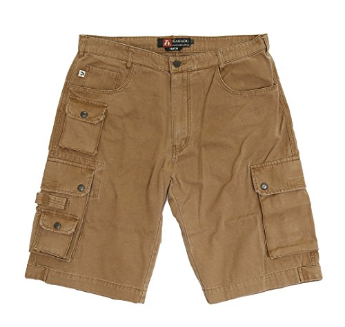 Kakadu Traders Herren Cargo Shorts Utility Tobacco X-Large - Utility-jeans-arbeit Jean