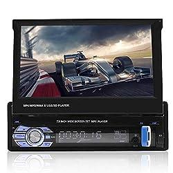 VBESTLIFE Bluetooth-Autoradio, 7In Car MP5 Video Player Einzelner Din-Car-Media-Player mit GPS-Funktion, Unterstützung für APE, FLAC, WAV, Dis-Formate
