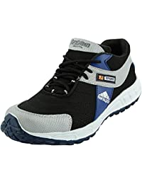 Charan Collections Black Running Shoes Or Sports Shoes For Men