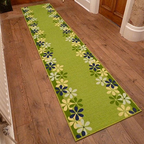 Margerite Green - Long Hall & Stair Carpet Runner