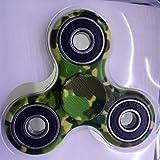 icase4u Fidget Hand Spinner Toy, Original Spinner de la mano de alta velocidad Juguete de enfoque de escritorio estrés reductor para niños y adultos (Camuflaje Verde)