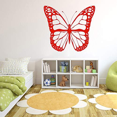JXNY Schmetterling Bug Insekt Monarch Wandaufkleber für Kinderzimmer Mädchen Tapete Hintergrund Decals Schlafzimmer Kunst Sticker66x57cm -
