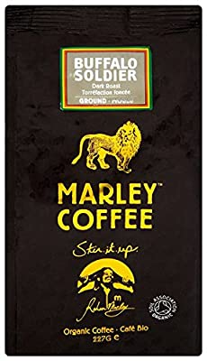 Marley Coffee Organic Buffalo Soldier Dark Roast Ground Coffee Bag 227g from MARLEY COFFEE
