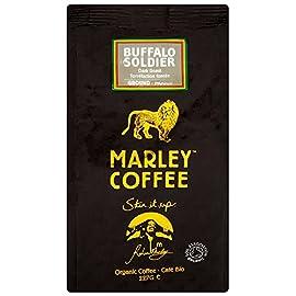 Marley Coffee Organic Buffalo Soldier Dark Roast Ground Coffee Bag 227g