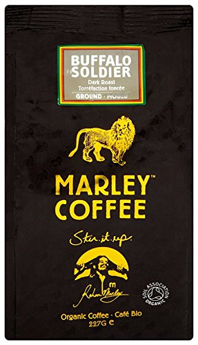 Marley Coffee Organic Buffalo Soldier Dark Roast Ground Coffee Bag 227g 51Id99gabNL