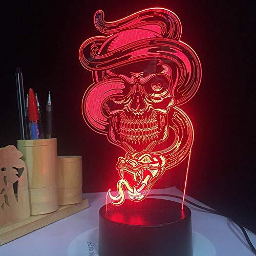 Kinder Kinder Nachtlicht Usb Luminaria Schädel Licht Touch Sensor Gesteuert Gothic Halloween Tischlampe Kinder Geschenk -