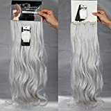 24 inches(61cm) Long Curly Wavy 8 Piece Full Head 18Clips Womens Ladies Girls Clip in Hair Extensions