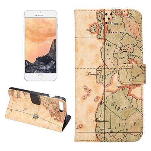 Hülle für iPhone 7 plus , Schutzhülle Für iPhone 7 Plus Cowboy Tuch Textur Magnetische Adsorption Horizontale Flip Leder Tasche mit Card Slot & Holder & Wallet ,hülle für iPhone 7 plus , case for ipho Yellow