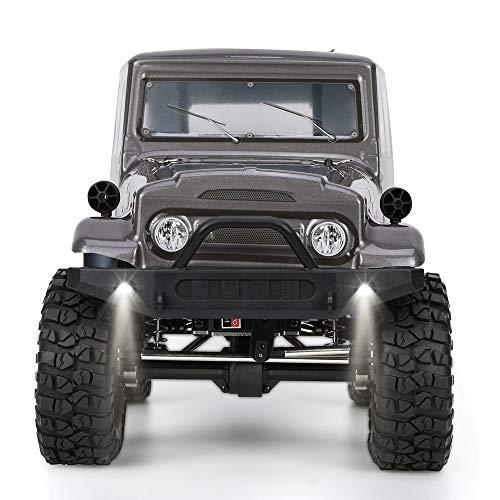 @MZL Crawler RC 1:10 LKW 4x4 RC Crawler 4wd Off Road Rock RC Auto mit Beleuchtung elektrische Wasserdichte Rock Cruiser Hobby Spielzeug für Kinder,Black - Rc 4x4 Rock Crawler 1 10