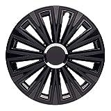 CM DESIGN 14 Zoll Sunset Double Black, Passend für Fast Alle FIAT z.B. für FIAT 500