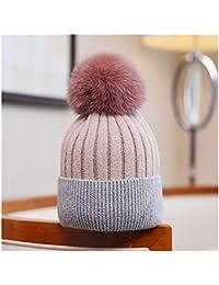 YN Versión Coreana de Otoño e Invierno Cálido Pelo Salvaje Bola Lana  Sombrero Moda Color a 0393514d26d