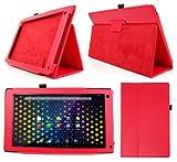 DURAGADGET Etui aspect cuir rouge + stand de maintien arrière pour Archos 101 NEON tablette tactile 10,1 pouces Android 4.2 3G / WiFi (PAS COMPATIBLE avec version 101B / 101C / 101D ni modèles Titanium, Platinium, Xenon et Cobalt)