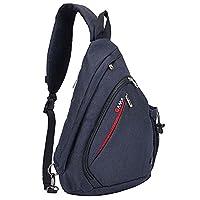 Babimax Sling Bag Shoulder Backpack CrossBody Chest Bags Cycling Travel Biking (Black)
