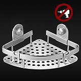Ecooe Duschkörbe ecke aus Aluminium Legierung Badezimmer Regal Duschkorb Duschablage Ohne Bohren