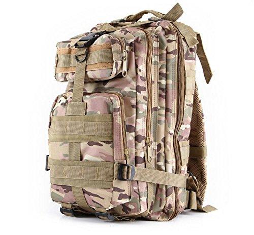 Ventilatore di Oxford tessuto mimetico esercito Borsa unisex borsa zaino zaino zaino , ruins camouflage cp camouflage