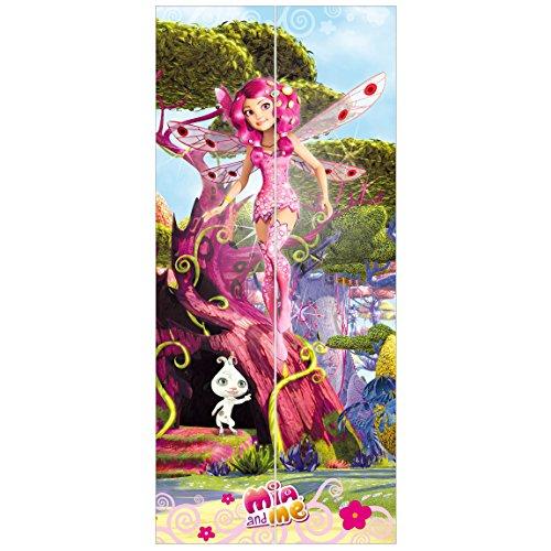 Kostüm Brillante Elfen - Vliestapete Tür-Mia and Me-Mia und Phuddle-Tür Wand Wandbild, Dimension HxB: 215x 96-0,00