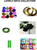 #8: Lovely Arts Collection's Crafts Stocking Flower Making Kit- 6 Items