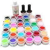 Coscelia 36Pcs UV Farbe Gel Farbgele und Neon Mix Farbe für Nail Art Nagelstudio
