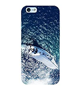 Boat in the Sea 3D Hard Polycarbonate Designer Back Case Cover for Apple iPhone 6 Plus :: Apple iPhone 6+