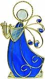 CMC manchado portavelas de cristal Ángel con lira