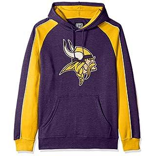 NFL Minnesota Vikings Male NFL OTS Merciless Hoodie, Purple, Large
