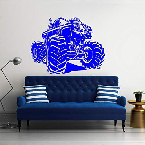 Wandtattoo Monster Truck Vinyl Rennwagen Aufkleber Kunstwand Haus Wohnzimmer Garage Innen Removable Home Poster Decor 32 * 42 cm (Candy Traktor)