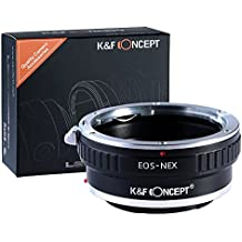 K & F Concept Anello Adattatore EOS-NEX per Obiettivo di Canon EOS a Fotocamera di Sony Alpha NEX-7, NEX-6, NEX-5N, NEX-5, NEX-C3, NEX-3