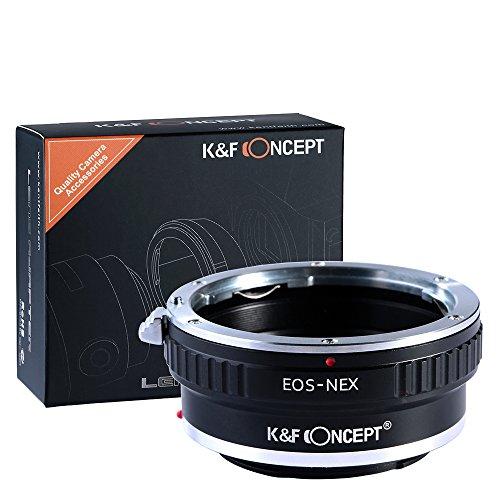 K&F Concept® EOS-NEX auf Sony NEX Alpha E-Mount Adapter | Adapterring Objektivadapter Kamera Ring Objektiv Canon-EF Canon EOS EF (Sony-canon Eos)