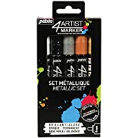 "Pebeo ""4Artist Metallic Colours, Assorted, 4 mm, Set of 5 preiswert"