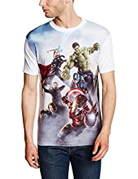Marvel Men's Avengers Age of Ultron Poster Montage T-Shirt