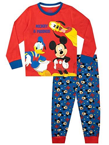 Disney - Ensemble De Pyjamas - Mickey Donald et Pluto - Garçon - Multicolore - 4-5 Ans