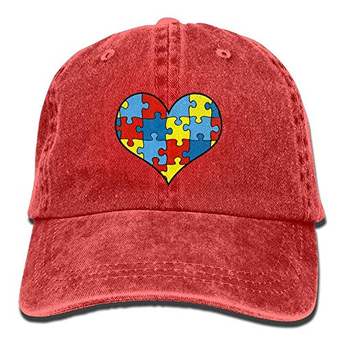 fgjfdjj Autism Awareness Heart Vintage Washed Dyed Cotton Twill Low Profile Adjustable Baseball Cap Black White Hearts Snap