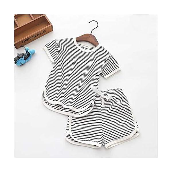 Trisee Verano recién Nacido para Mono de bebé para niñas de Romper Raya algodón Blusa y Pantalones Cortos 2pcs Conjunto… 5