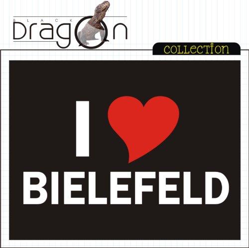 T-Shirt mit Städtenamen - i Love Bielefeld - Herren - unisex Schwarz