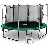 Klarfit Rocketstart 366 Cama elástica trampolin con red de seguridad (superficie base 366cm diametro, sujecion 4 patas doble, varillas de sujecion acolchadas, lona resistente a los rayos UV, protector de lluvia, verde) - Cosmética y perfumes - Comparador de precios