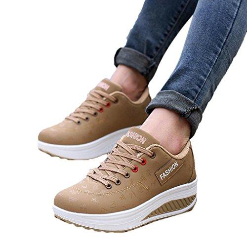 Elecenty scarpa sneakers estive eleganti donna scarpe Scarpa a zeppa altalena crescente per donna