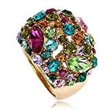 Claire Jin Multi Color Moda Declaración Anillo mujer Joyería Gipsófila Diamantes de Imitacion (14)
