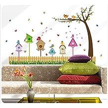PeiTrade Fenice nido d'uccello nido adesivo muratore Art Decal Casa Decorazione Decorazione ufficio Wall Art Wallpaper Art Decal sticker carta da parati per casa Camera da letto