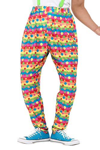 Smiffy' s 47190 m clown pantaloni, uomo, Neon, medium, 38 – 101,6 cm
