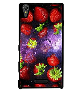 Fuson 2D Printed Fruits Designer back case cover for Sony Xperia T3 - D4513