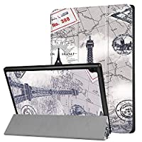 Compatible with Lenovo Tab 4 10 Case, Tri-Fold Ultra Protection Slim Lightweight Smart Shell Stand Case with with Auto Wake/Sleep Feature for Lenovo Tab 4 10.1,Gray Tower